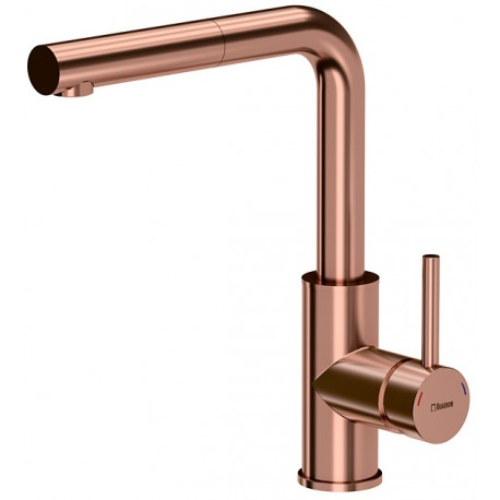 Quadron Angelina Pull Out Kitchen Sink Mixer Tap Copper Finish