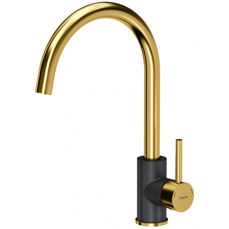 Quadron Ingrid Kitchen Sink Mixer Tap Gold Black Finish