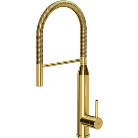 Quadron Marylin Pull Out Tall  Kitchen Sink Mixer Tap Gold Finish