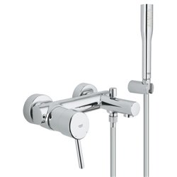 Grohe Concetto Single Lever Bath Shower Mixer Tap Wall Mounted New Modern Style