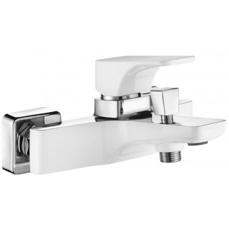 Deante Hiacynt Bath mixer wall mounted without shower set  white