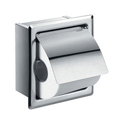 Flova Gloria Single Concealed Recessed Toilet Paper Roll Holder - Chrome Finish