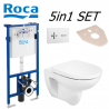 Roca 5in1 Set Debba Rimless Wc and Frame Bundle Flush Plate and Soft Closed Seat PL1