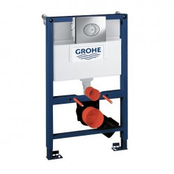 Grohe RAPID-SL 3-in-1 Toilet Frame 6/9 Litre 3 Mode Cistern 820mm High Frame with Skate Flush Plate Blue/White