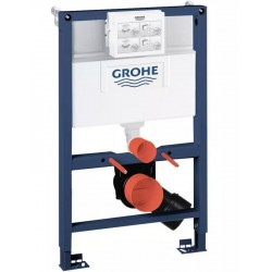 Grohe RAPID-SL 2-in-1 Toilet Frame 6/9 Litre Dual Flush Cistern 820mm High Frame Blue/White