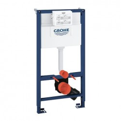 Grohe RAPID-SL 2-in-1 Toilet Frame 6/9 Litre Dual Flush Cistern 1000mm High Frame Blue/White