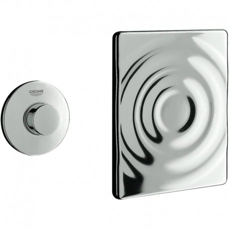 Grohe AIR BUTTON Flush Button with Surf Wall Plate Chrome