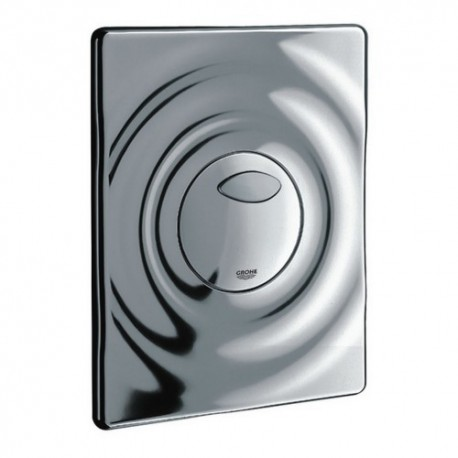 Grohe SURF Pneumatic WC Wall Plate Dual Flush Start Stop Actuation Chrome