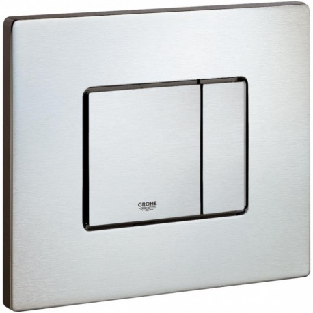 Grohe SKATE COSMOPOLITAN Wall Plate Dual Flush Stainless Steel