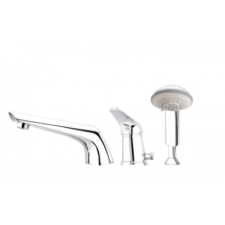 Deante Jaguar Line 3-hole bath mixer chrome