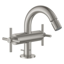 Grohe Atrio 1 Hole 2 Handle Bidet Mixer Supersteel