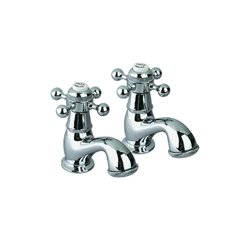 JTP Queens Vanity Basin Taps, Pair, Chrome