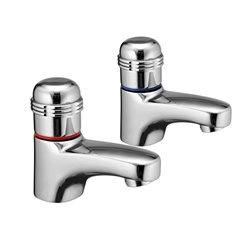 JTP Vega Deck Mounted Basin Taps Pair - Chrome