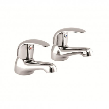 TP Topmix Modern Basin Taps Pair - Chrome