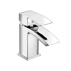 JTP Dash Mini Basin Mixer Tap with Click Clack Waste Single Handle - Chrome