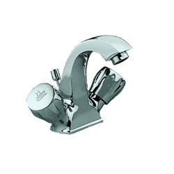 JTP Continental Mono Basin Mixer Tap with Pop-Up Waste Dual Handle - Chrome