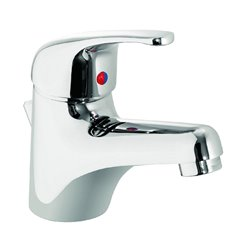 JTP Topmix Mono Basin Mixer Tap with Click-Clack Waste Single Handle - Chrome