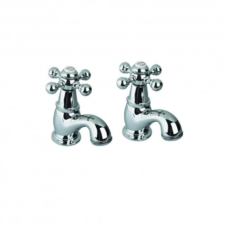 JTP Queens Traditonal Basin Taps Pair - Chrome