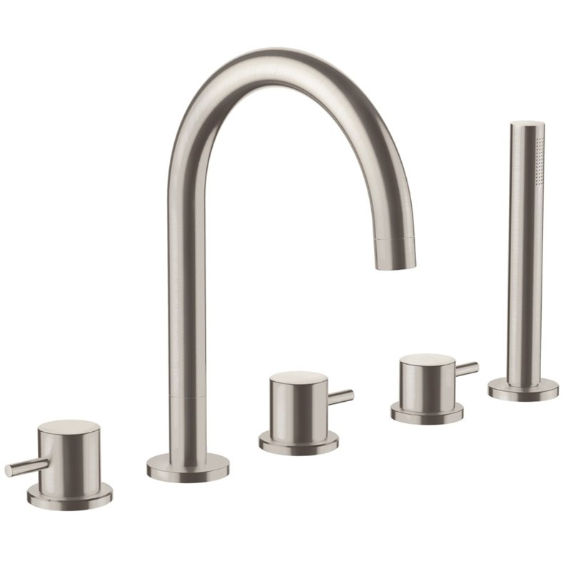 JTP Inox 5-Hole Bath Shower Mixer Tap With Diverter And