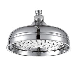 JTP Victorian Fixed Shower Head- 150mm Diameter- Chrome