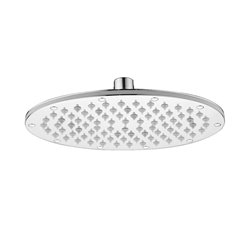 JTP Oval Fixed Shower Head- 230mm Diameter- Chrome