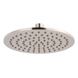 JTP Inox Slim Round Fixed Shower Head 200mm Diameter - Stainless Steel