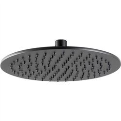 JTP Vos Round Fixed Shower Head 200mm Diameter - Matt Black