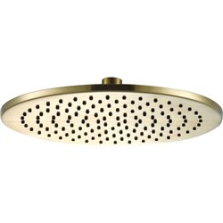 JTP Vos Round Fixed Shower Head 250mm Diameter - Brushed Brass