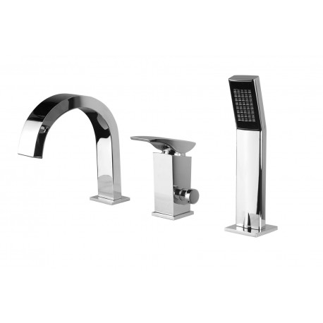 Deante Minimal 3-hole bath mixer