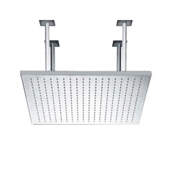 JTP Rainshower Square Fixed Shower Head- 400mm x 400mm- Chrome