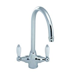 JTP Chelsea Mono Kitchen Sink Mixer Tap- Dual Handle- Chrome