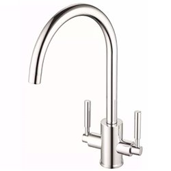 JTP Newbury Mono Kitchen Sink Mixer Tap- Swivel Spout- Dual Handle- Chrome