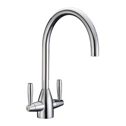 JTP Blink Mono Kitchen Sink Mixer Tap- Dual Handle- Chrome