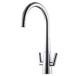 JTP Fego Monoblock Kitchen Sink Mixer Tap Dual Handle - Chrome