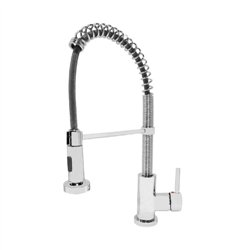 JTP Spring Mono Kitchen Sink Mixer Tap- Pull Out Spout- Single Handle- Chrome