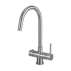 JTP Instant Hot and Cold Water Sink Mixer with Boiler and Filter Unit - Stainless Steel