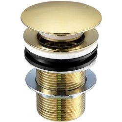 JTP Vos Basin Waste Brushed Brass - Unslotted