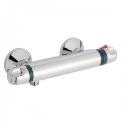 JTP Shore Thermostatic Bar Shower Valve Dual Handle - Chrome