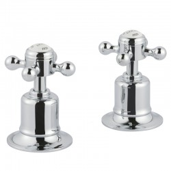 JTP Grosvenor Cross Panel Valves Pair - Chrome