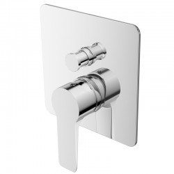 JTP Amore Single Lever Concealed Manual Diverter Valve - Chrome