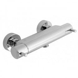 JTP Florence Wall Mounted Thermostatic Bar Shower Valve Dual Handle - Chrome