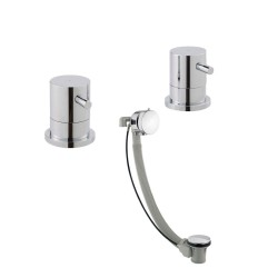 JTP Florence Freeflow Bath Filler with Extended Pop-up Waste - Chrome
