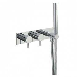 JTP Florence Thermostatic Concealed 1 Outlet Shower Valve with Handset - Chrome