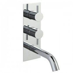 JTP Florence Thermostatic Concealed 2 Outlet Shower Valve with Spout - Chrome
