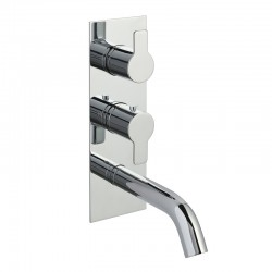 JTP Amore Thermostatic Concealed 2 Outlets Shower Valve with Attached Spout - Chrome