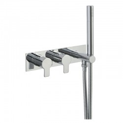 JTP Amore Thermostatic Concealed 1 Outlet Shower Valve with Attached Handset - Chrome