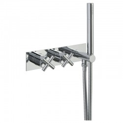 JTP Solex Thermostatic Concealed 1 Outlet Shower Valve with Attached Handset - Chrome