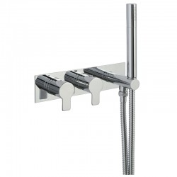 JTP Amore Thermostatic Concealed 2 Outlets Shower Valve with Attached Handset - Chrome