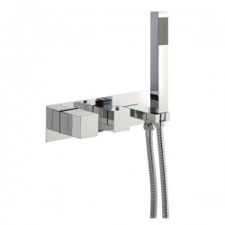 JTP Athena Thermostatic Concealed Shower Valve 2 Outlet with Handset - Chrome
