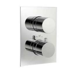 JTP Florentine NRV Concealed Shower Valve Dual Handle - Chrome